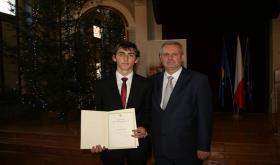 Stypendium Prezesa Rady Ministrów dla Damiana Pogody